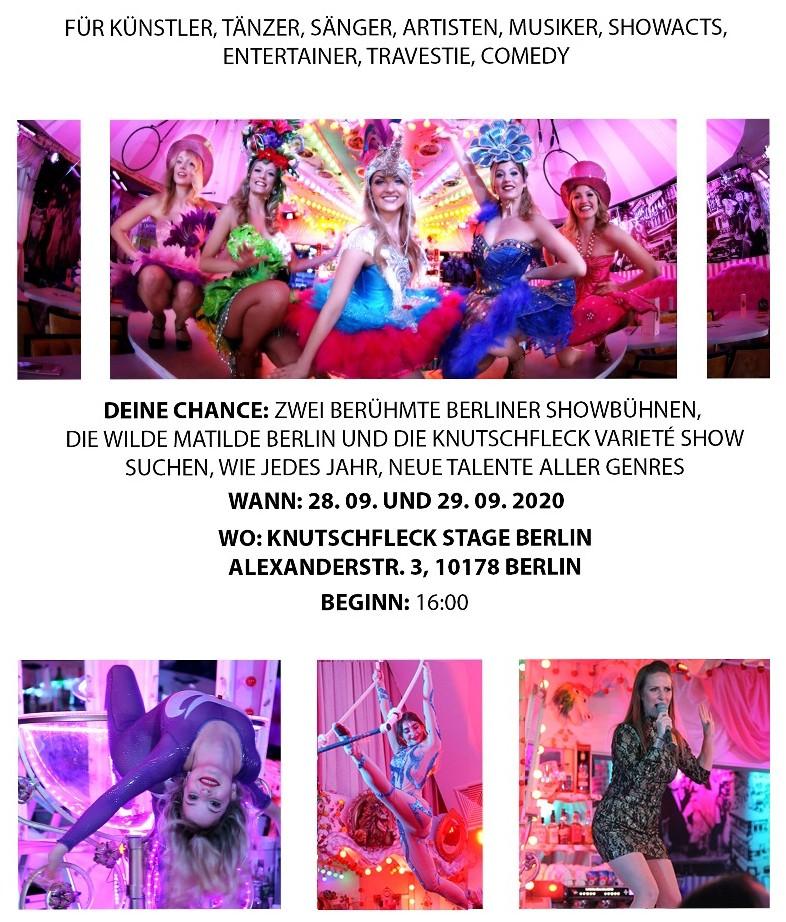 Open Audition und Casting 2020 Wilde Matilde Berlin